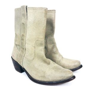 STEVE MADDEN Tan Suede Western Cowboy Boot 7.5